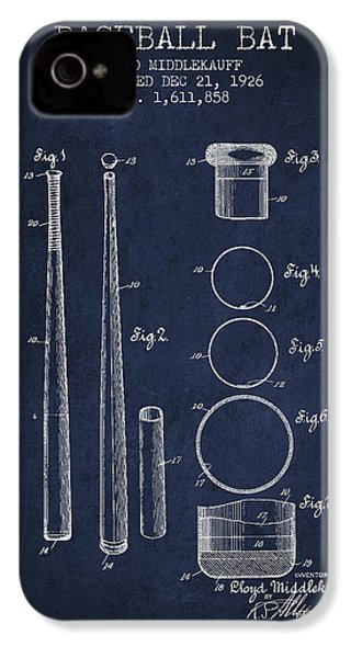 Vintage Baseball Bat Patent From 1926 IPhone 4 / 4s Case by Aged Pixel
