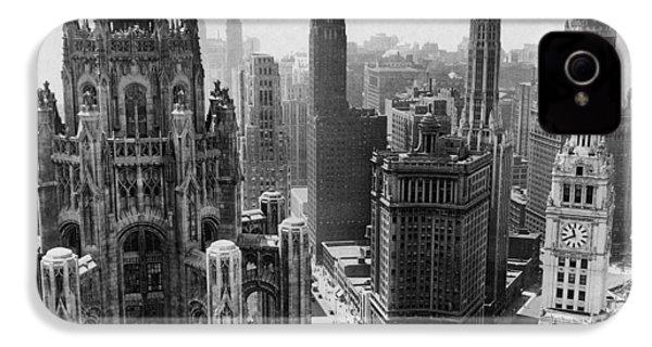 Vintage Chicago Skyline IPhone 4 / 4s Case by Horsch Gallery