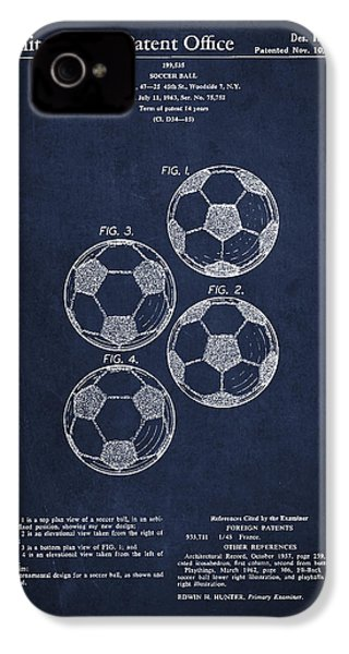 Vintage Soccer Ball Patent Drawing From 1964 IPhone 4 / 4s Case by Aged Pixel