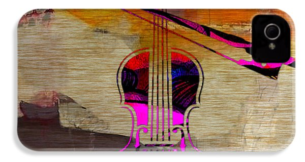 Violin And Bow IPhone 4 / 4s Case by Marvin Blaine