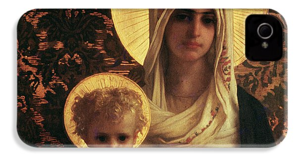 Virgin And Child IPhone 4 / 4s Case by Antoine Auguste Ernest Herbert