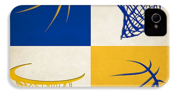 Warriors Ball And Hoop IPhone 4 / 4s Case by Joe Hamilton