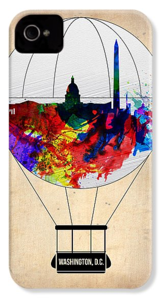 Washington D.c. Air Balloon IPhone 4 / 4s Case by Naxart Studio