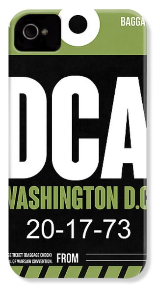 Washington D.c. Airport Poster 2 IPhone 4 / 4s Case by Naxart Studio