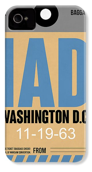 Washington D.c. Airport Poster 3 IPhone 4 / 4s Case by Naxart Studio