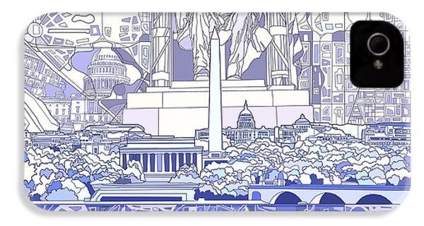 Washington Dc Skyline Abstract 3 IPhone 4 / 4s Case by Bekim Art