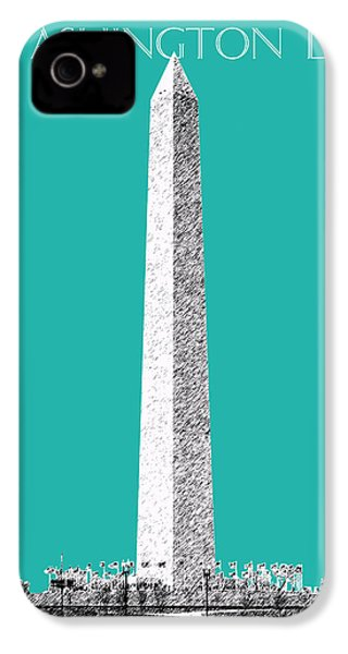 Washington Dc Skyline Washington Monument - Teal IPhone 4 / 4s Case by DB Artist