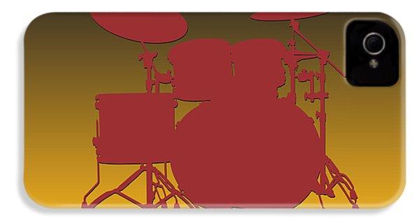 Washington Redskins Drum Set IPhone 4 / 4s Case by Joe Hamilton