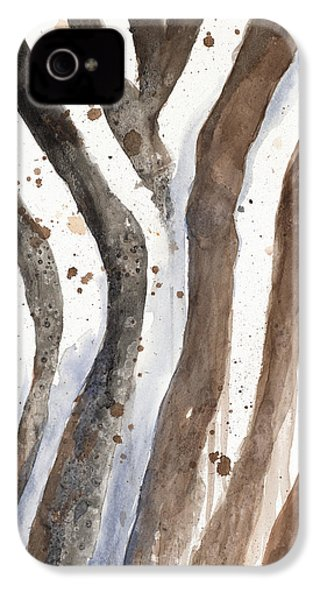 Watercolor Animal Skin II IPhone 4 / 4s Case by Patricia Pinto