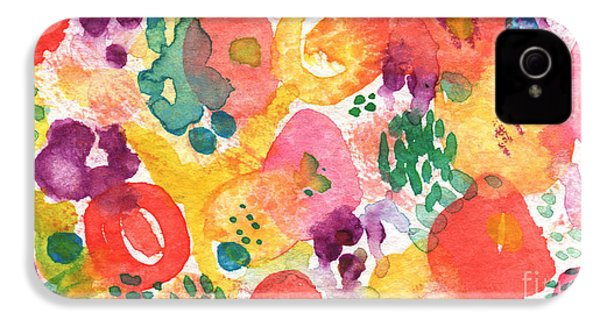 Watercolor Garden IPhone 4 / 4s Case by Linda Woods