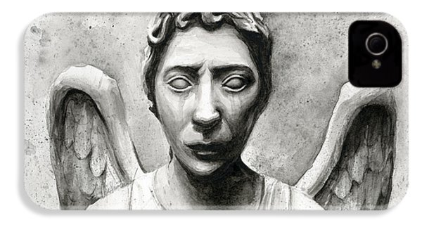 Weeping Angel Don't Blink Doctor Who Fan Art IPhone 4 / 4s Case by Olga Shvartsur