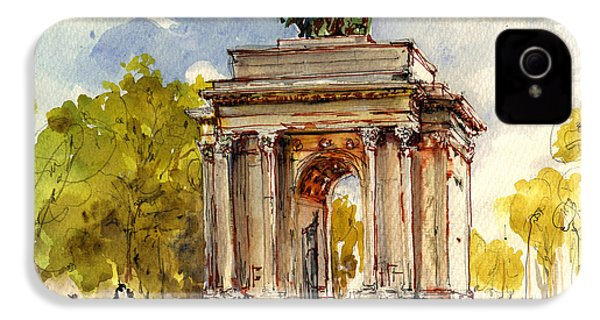 Wellington Arch IPhone 4 / 4s Case by Juan  Bosco