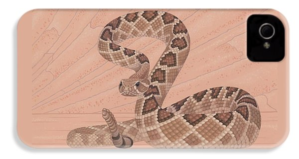 Western Diamondback Rattlesnake IPhone 4 / 4s Case by Nathan Marcy