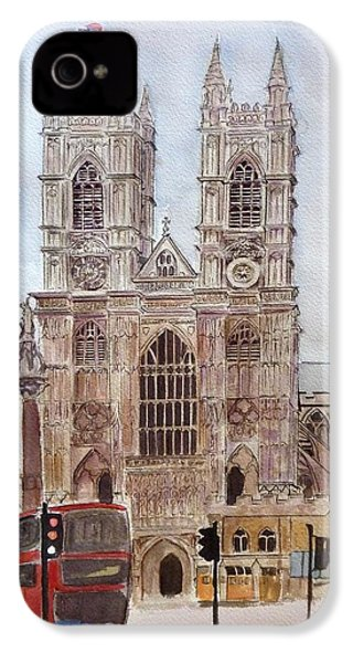Westminster Abbey IPhone 4 / 4s Case by Henrieta Maneva