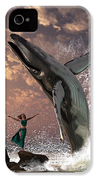 Whale Watcher IPhone 4 / 4s Case by Daniel Eskridge