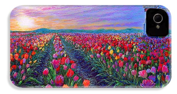Tulip Fields, What Dreams May Come IPhone 4 / 4s Case by Jane Small