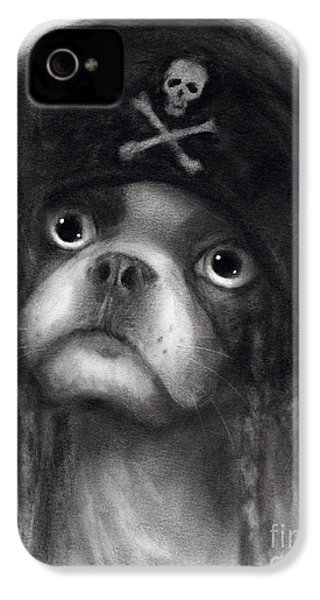 Whimsical Funny French Bulldog Pirate  IPhone 4 / 4s Case by Svetlana Novikova