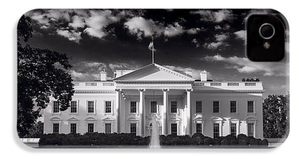 White House Sunrise B W IPhone 4 / 4s Case by Steve Gadomski