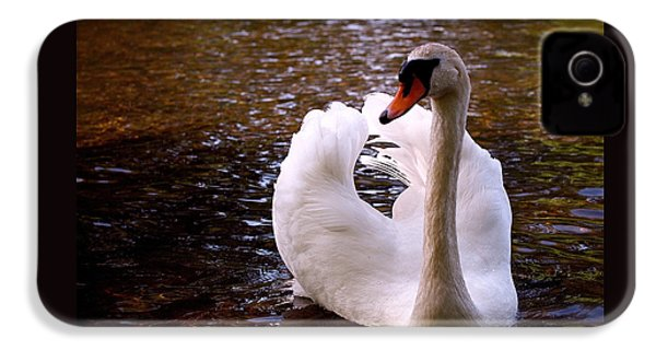 White Swan IPhone 4 / 4s Case by Rona Black