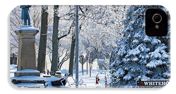 Whitehouse Village Park  7360 IPhone 4 / 4s Case by Jack Schultz