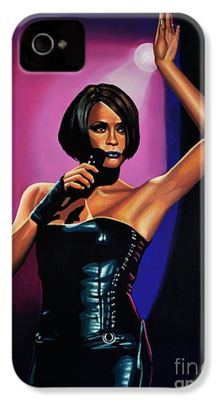 Whitney Houston On Stage IPhone 4 / 4s Case by Paul Meijering