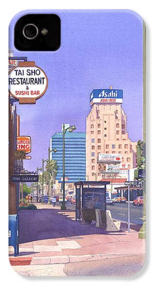 Wilshire Blvd At Mansfield IPhone 4 / 4s Case by Mary Helmreich