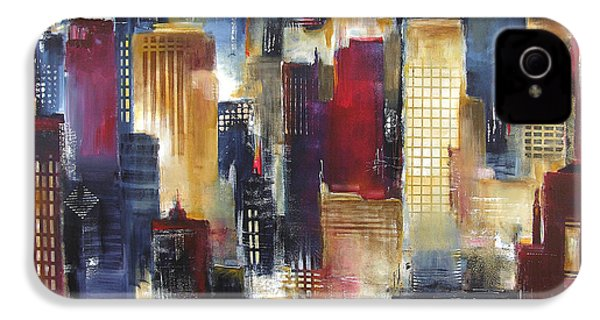 Windy City Nights IPhone 4 / 4s Case by Kathleen Patrick