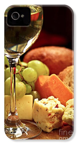 Wine And Cheese IPhone 4 / 4s Case by Elena Elisseeva