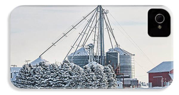 Winter Farm  7365 IPhone 4 / 4s Case by Jack Schultz