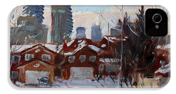 Winter In Mississauga  IPhone 4 / 4s Case by Ylli Haruni