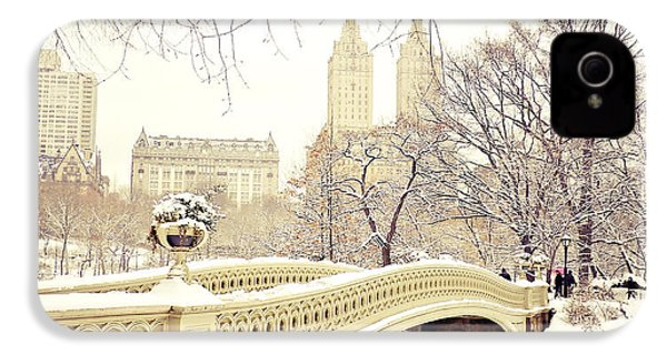Winter - New York City - Central Park IPhone 4 / 4s Case by Vivienne Gucwa