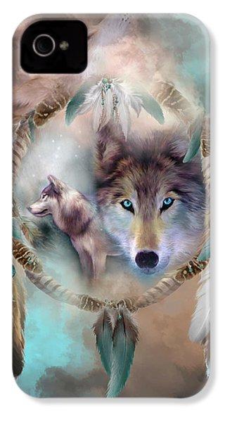 Wolf - Dreams Of Peace IPhone 4 / 4s Case by Carol Cavalaris