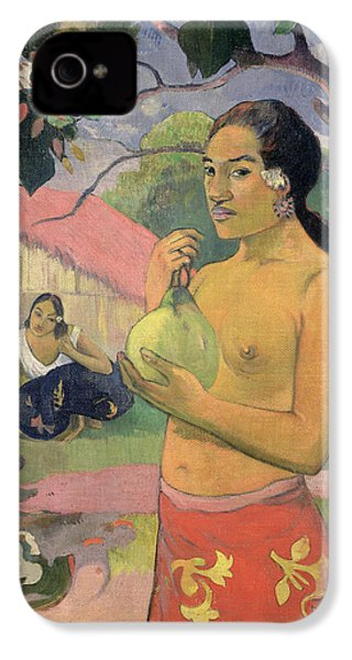Woman With Mango IPhone 4 / 4s Case by Paul Gauguin