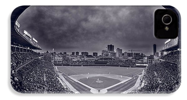 Wrigley Field Night Game Chicago Bw IPhone 4 / 4s Case by Steve Gadomski