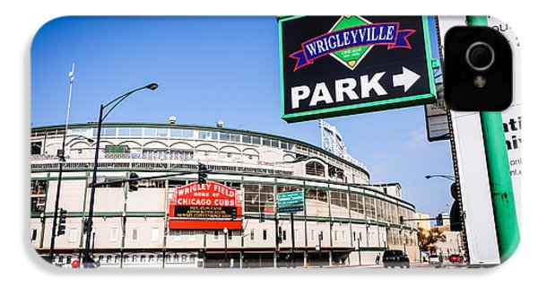 Wrigleyville Sign And Wrigley Field In Chicago IPhone 4 / 4s Case by Paul Velgos