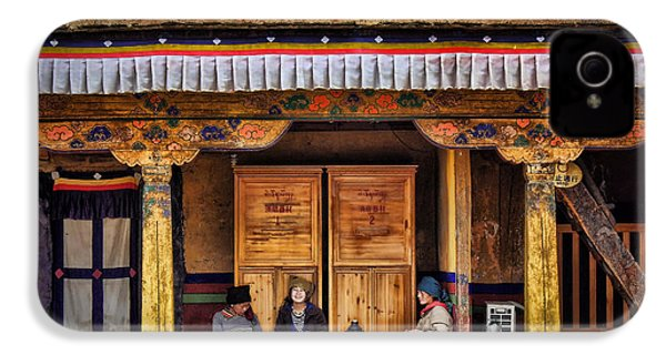 Yak Butter Tea Break At The Potala Palace IPhone 4 / 4s Case by Joan Carroll