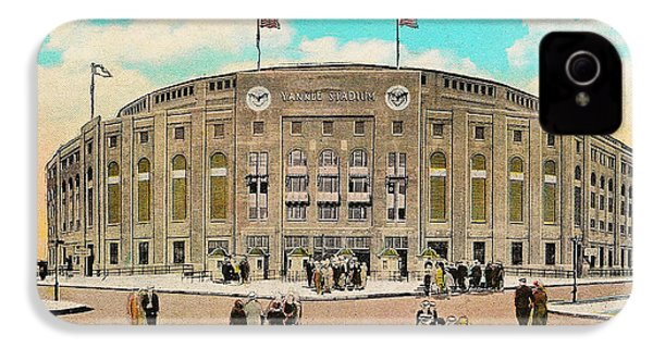 Yankee Stadium Postcard IPhone 4 / 4s Case by Digital Reproductions