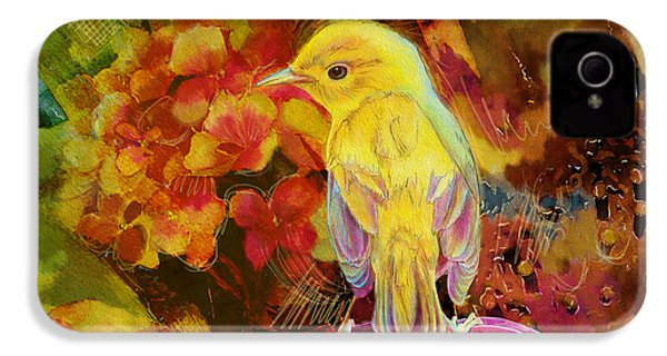 Yellow Bird IPhone 4 / 4s Case by Catf