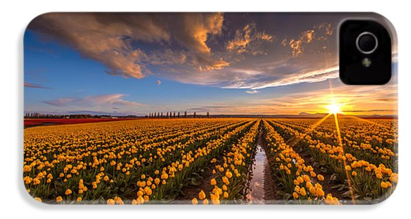 Yellow Fields And Sunset Skies IPhone 4 / 4s Case by Mike Reid