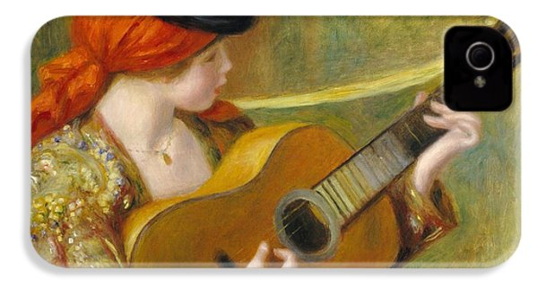 Young Spanish Woman With A Guitar IPhone 4 / 4s Case by Pierre Auguste Renoir