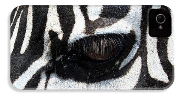 Zebra Eye IPhone 4 / 4s Case by Linda Sannuti