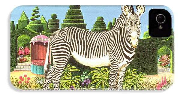 Zebra In A Garden IPhone 4 / 4s Case by Anthony Southcombe