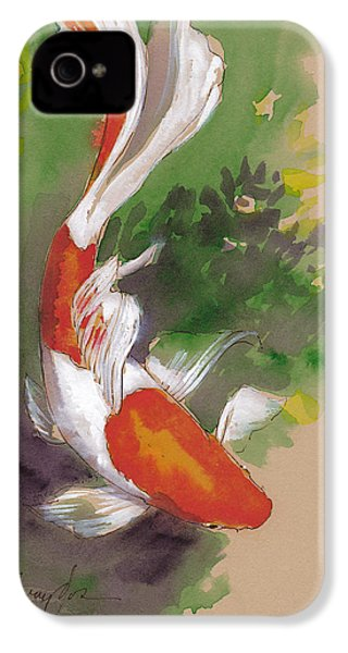 Zen Comet Goldfish IPhone 4 / 4s Case by Tracie Thompson