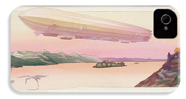 Zeppelin, Published Paris, 1914 IPhone 4 / 4s Case by Ernest Montaut