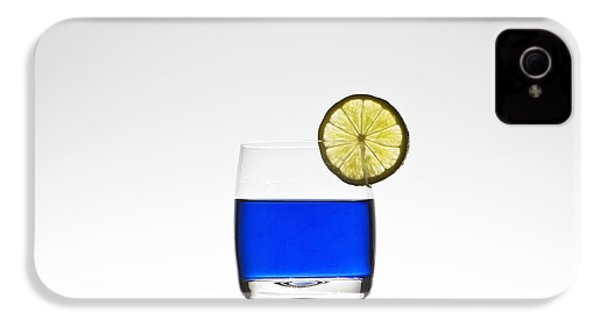 Blue Cocktail With Lemon IPhone 4 / 4s Case by Joana Kruse
