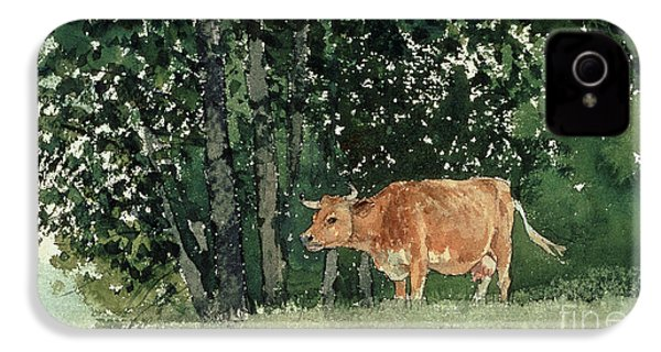 Cow In Pasture IPhone 4 / 4s Case by Winslow Homer