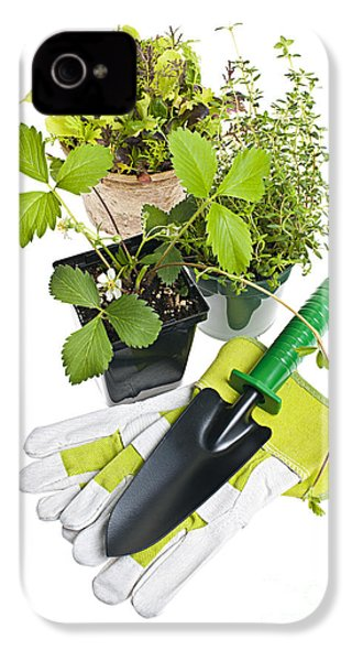 Gardening Tools And Plants IPhone 4 / 4s Case by Elena Elisseeva