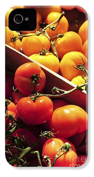 Tomatoes On The Market IPhone 4 / 4s Case by Elena Elisseeva