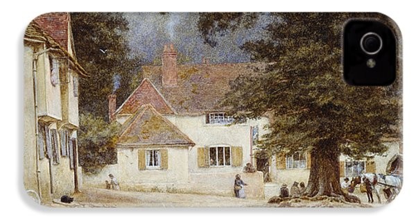 A Cart By A Village Inn IPhone 4 / 4s Case by Helen Allingham