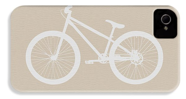 Bicycle Brown Poster IPhone 4 / 4s Case by Naxart Studio